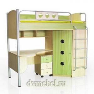 Кровать-2 со шкафом