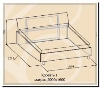 Кровать 1 AURUM