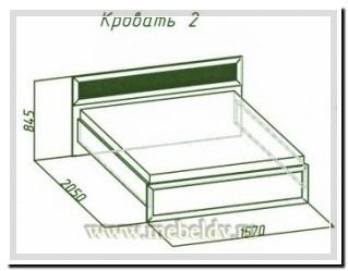Кровать 2 Милана