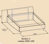 AURUM Кровать 2