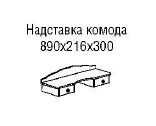 Парус-надставка для комода
