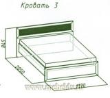 Милана Кровать 3