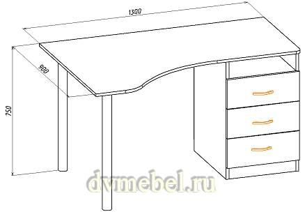 Письменный угловой стол Валенсия входит в одноименную модульную системуЭта стильная и практичная мебель идеально...